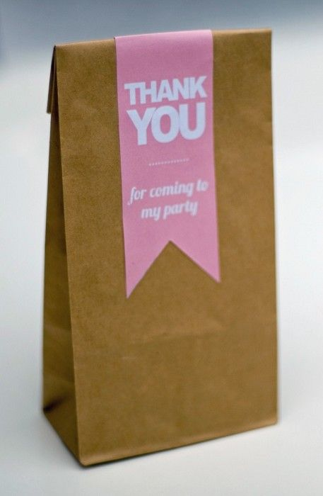 Wedding Favour Bags with Thank you Message (Pink)