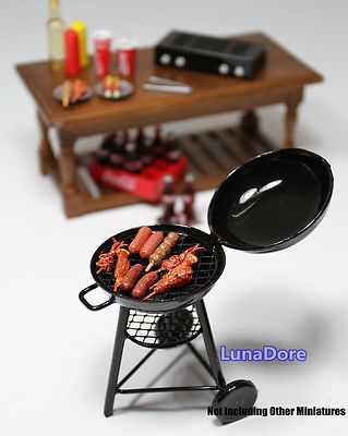 1 12 Black Iron BBQ Grill Miniature Garden Outdoor Doll House Accessory  Gift S | EBay