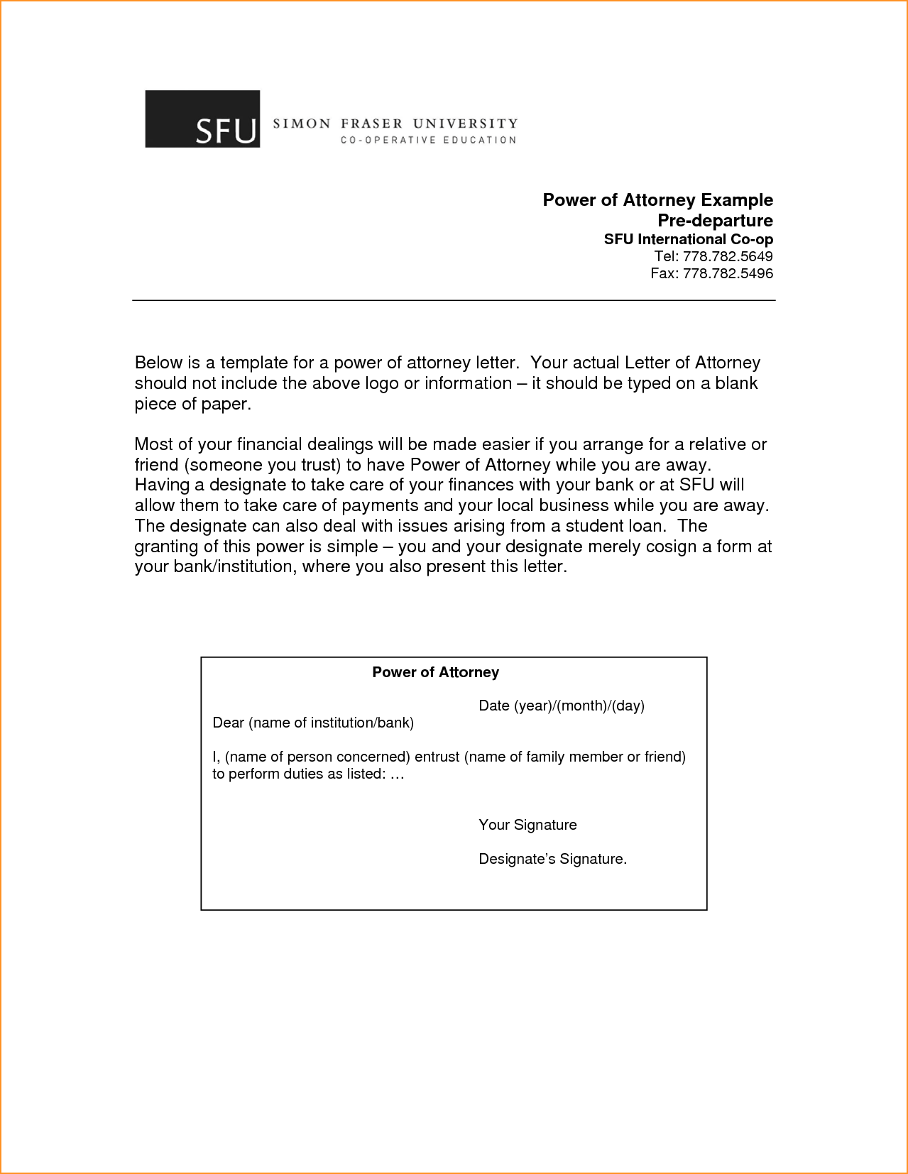 Power Attorney Template Questionnaire Third Party Authorization