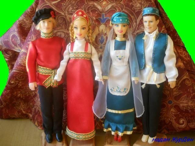 6.8 Собираем русский народный костюм для куклы 93