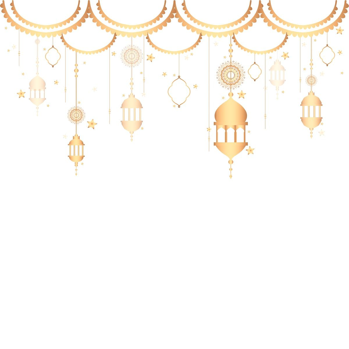Download Premium Vector Of Lanterns Pattern A Blank White Background 555691 In 2020 Ramadan Background Blank White Background Eid Background