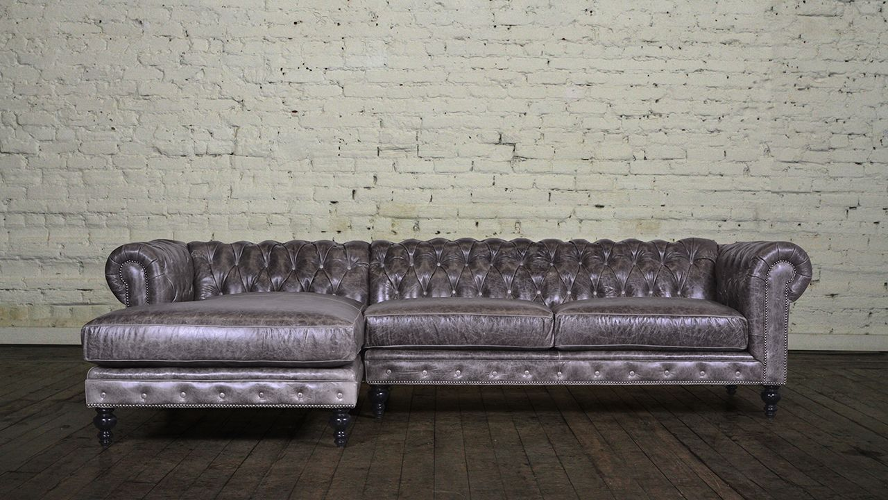 Merveilleux Chesterfield Leather Chaise Sectional | Maker Of Custom Luxury Furniture  Brand, Chesterfield Furniture Made In USA