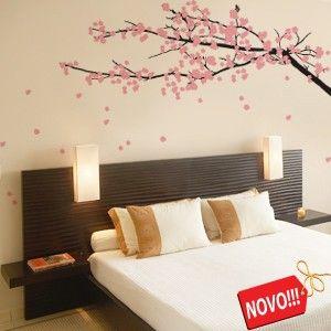 Adesivo De Parede Arvore Sakura Home Deco Adesivo De Parede