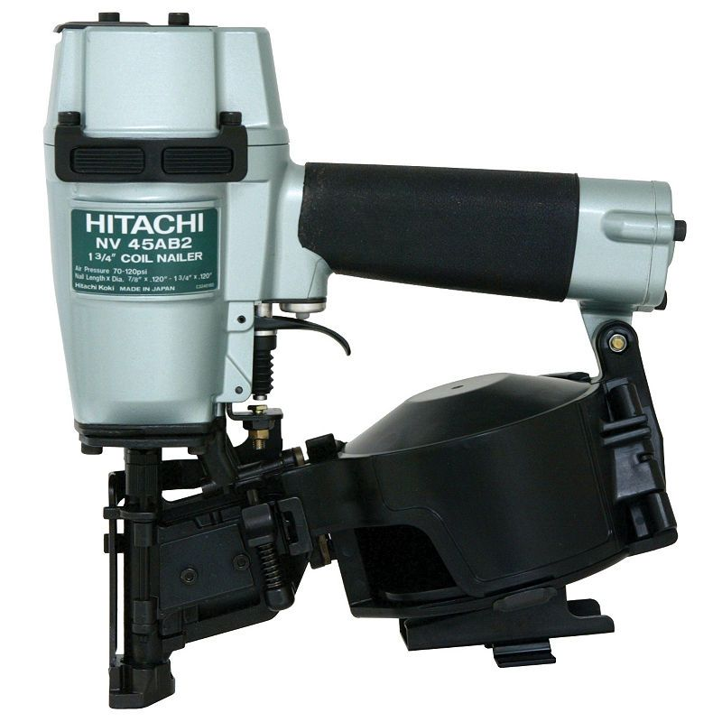 Hitachi Nv45ab2 1 3 4 Coil Roofing Nailer With Images Roofing Nailer Pneumatic Nailers Nailer