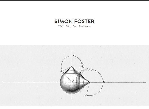Minimalist website design inspiration: Simon Foster | Website ...