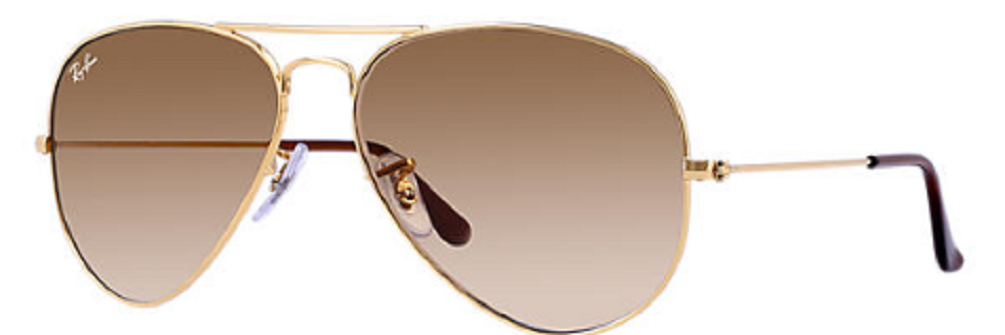 f1e4e283c28e1 Ray-ban Men s Gradient Aviator Rb3025-001 51-58 Gold Aviator Sunglasses