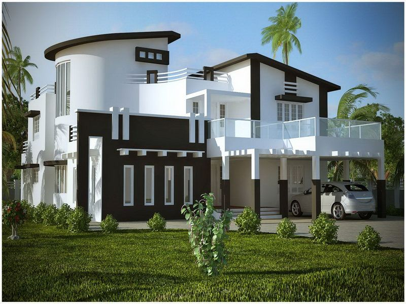 Modern balck and white home exterior get the look with for Exterior contemporary house colors