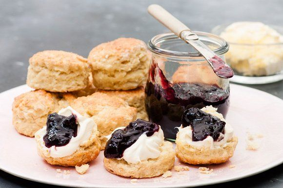 Nigella Lawson S Saffron Scones With Clotted Cream And Cherry Jam The Sunday Times Savory Scones In 2019 Scones Clotted Cream Nigella Lawson