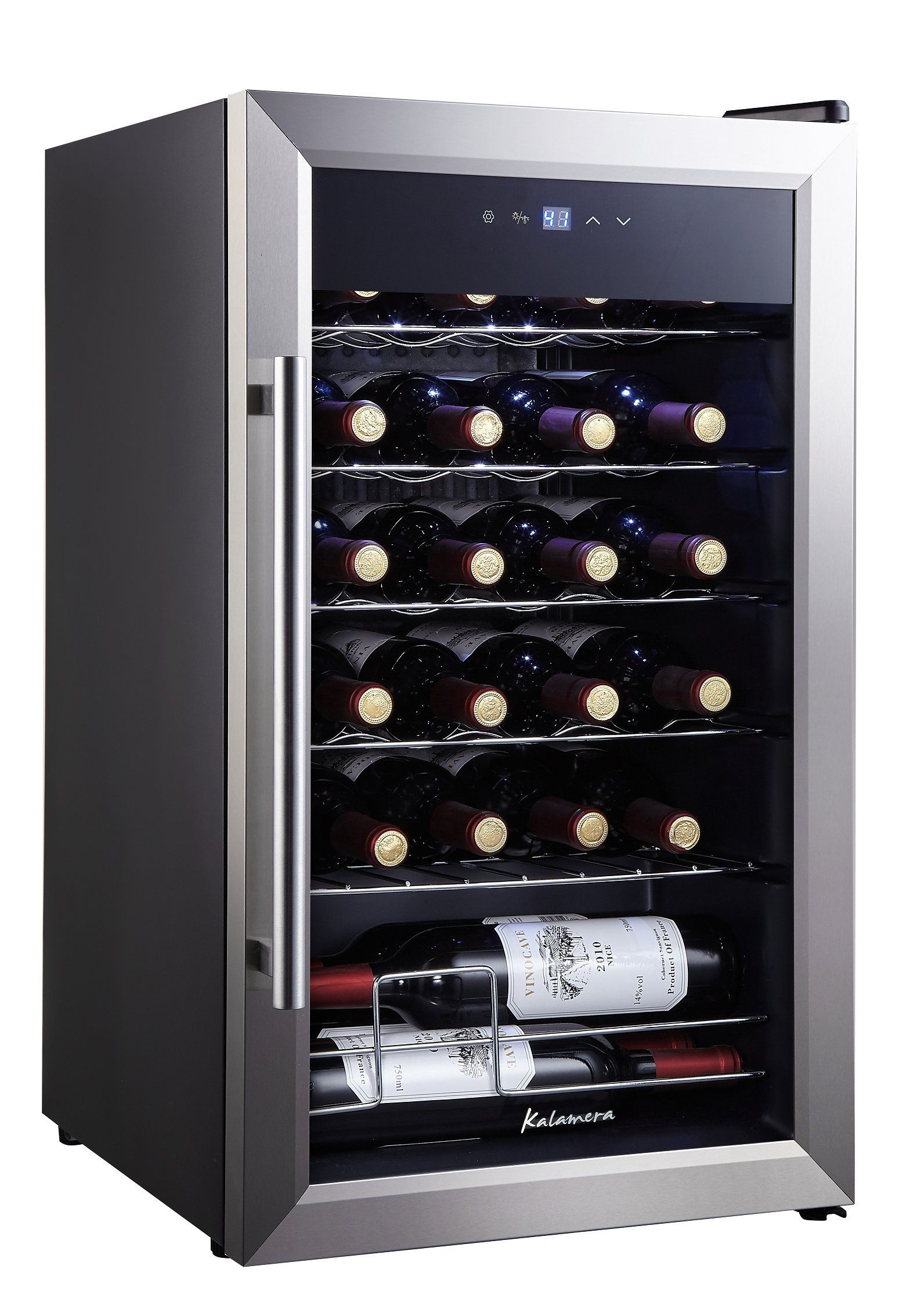 Kalamera Krc24ss 24 Bottle Single Zone Wine Cooler Small Fridge Black To View Further For This Item Visit The Small Wine Fridge Wine Dispenser Wine Cooler