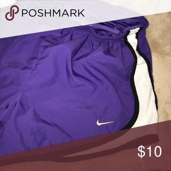 Purple Nike pro running shorts Purple Nike running shorts. Size small. Nike Shorts