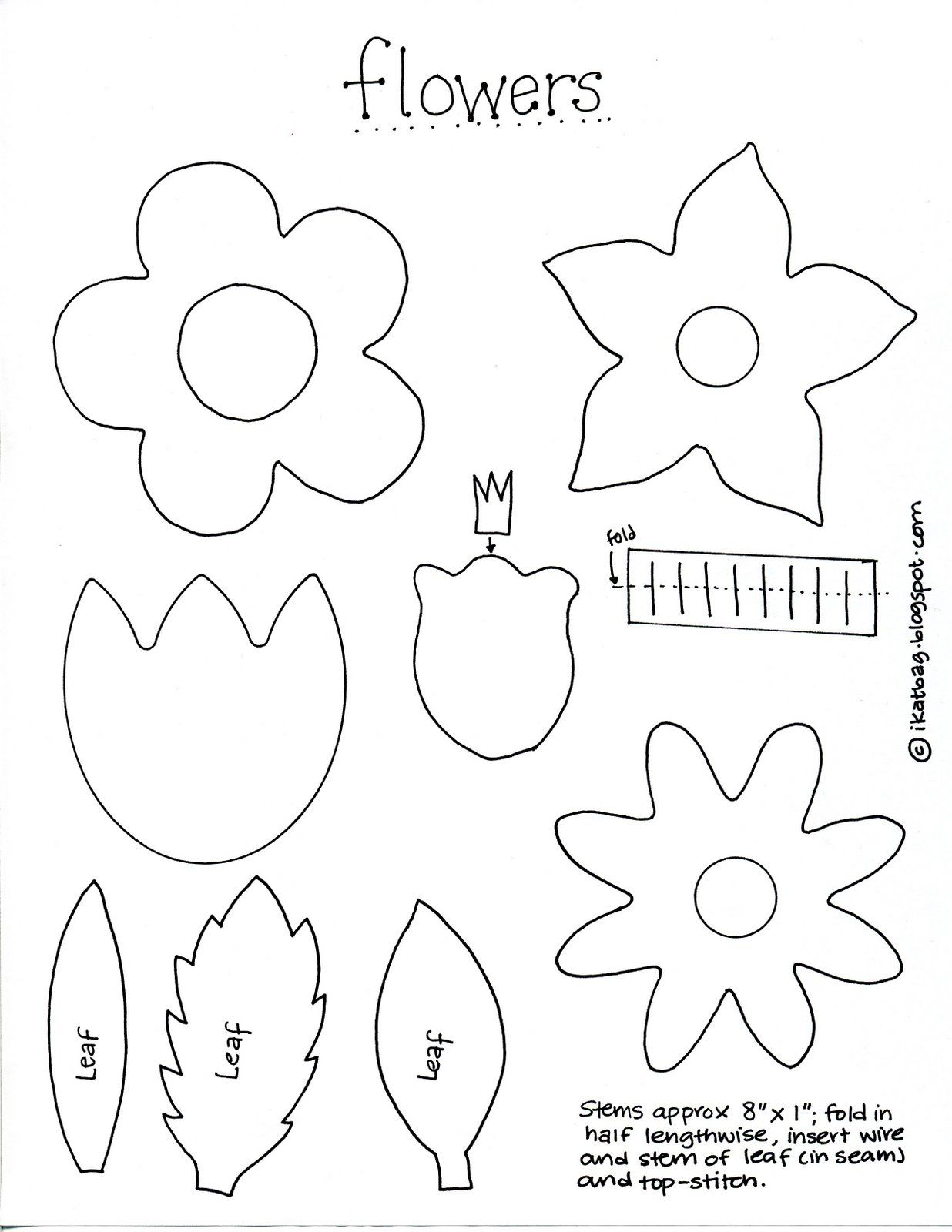 It's just an image of Inventive Felt Flower Template Printable
