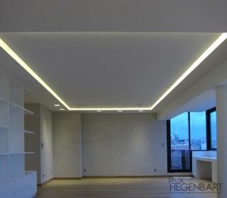agencement sur mesure faux plafond lumineux