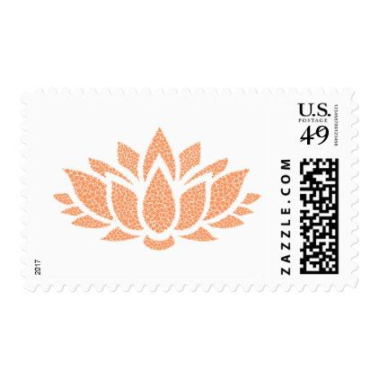 Elegant Simple Abstract Lotus Flower Postage Stamp - elegant gifts classic stylish gift idea diy style
