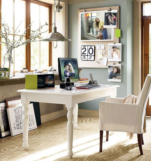 High Quality Office : Scandinavian Home Office Design With Slim White Table And Chair  Some Great Tips For Home Office Design Ideas Diy Home Office Design Ideasu201a  Home ...