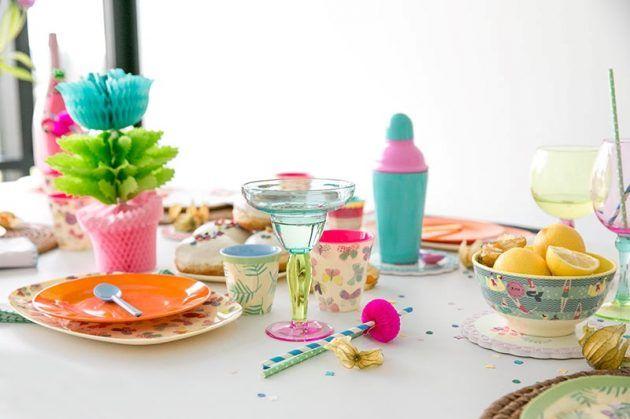 Farbenfroh Feiern Bunte Tischdeko Zum Geburtstag Dekoration