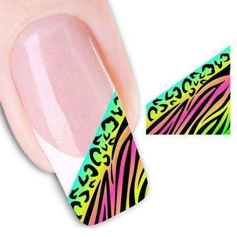 RoseGal.com - RoseGal Irregular Stripe Pattern Color Block Water Transfer Printing Nail Sticker - AdoreWe.com
