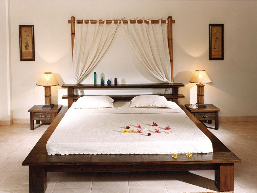 Camera da letto etnica in bamboo e crash | Dormitorio | Pinterest ...