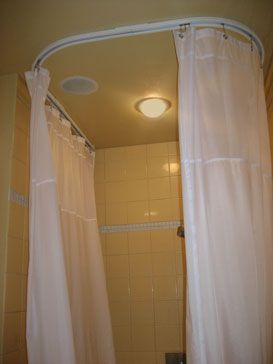 U Shaped Shower Rod Curtains Shower Rod Curtain Rods