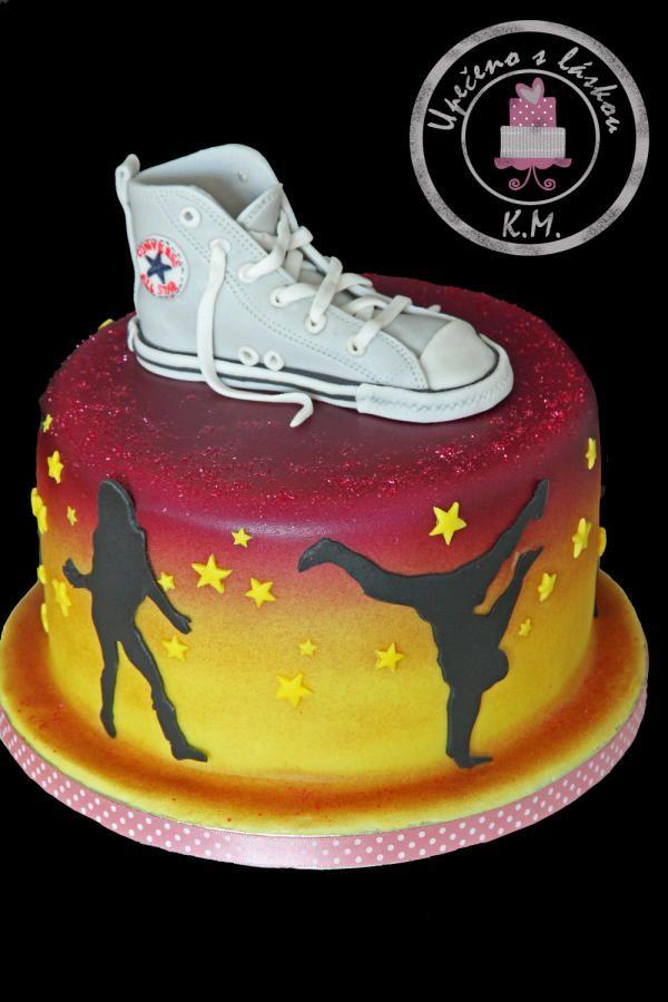 Hip Hop Cake with fondant Converse shoe | Dance cakes, Hip