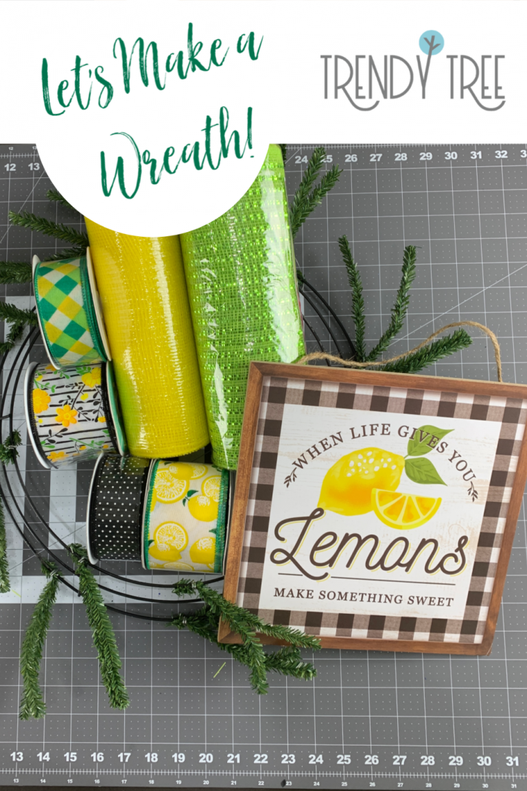 Photo of When Life Gives You Lemons – Make a Wreath! – Trendy Tree Blog| Holiday Decor Inspiration | Wreath Tutorials|Holiday Decorations| Mesh & Ribbons