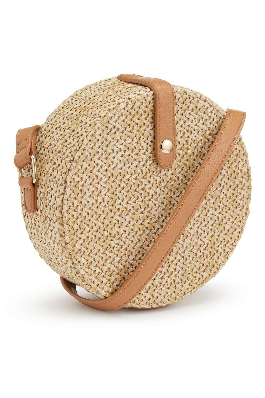 a963f52a126d9b Circle Straw Cross Body Bag