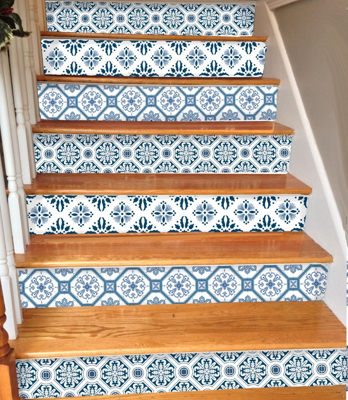 15steps Stair Riser Vinyl Strips Removable Sticker Peel & Stick