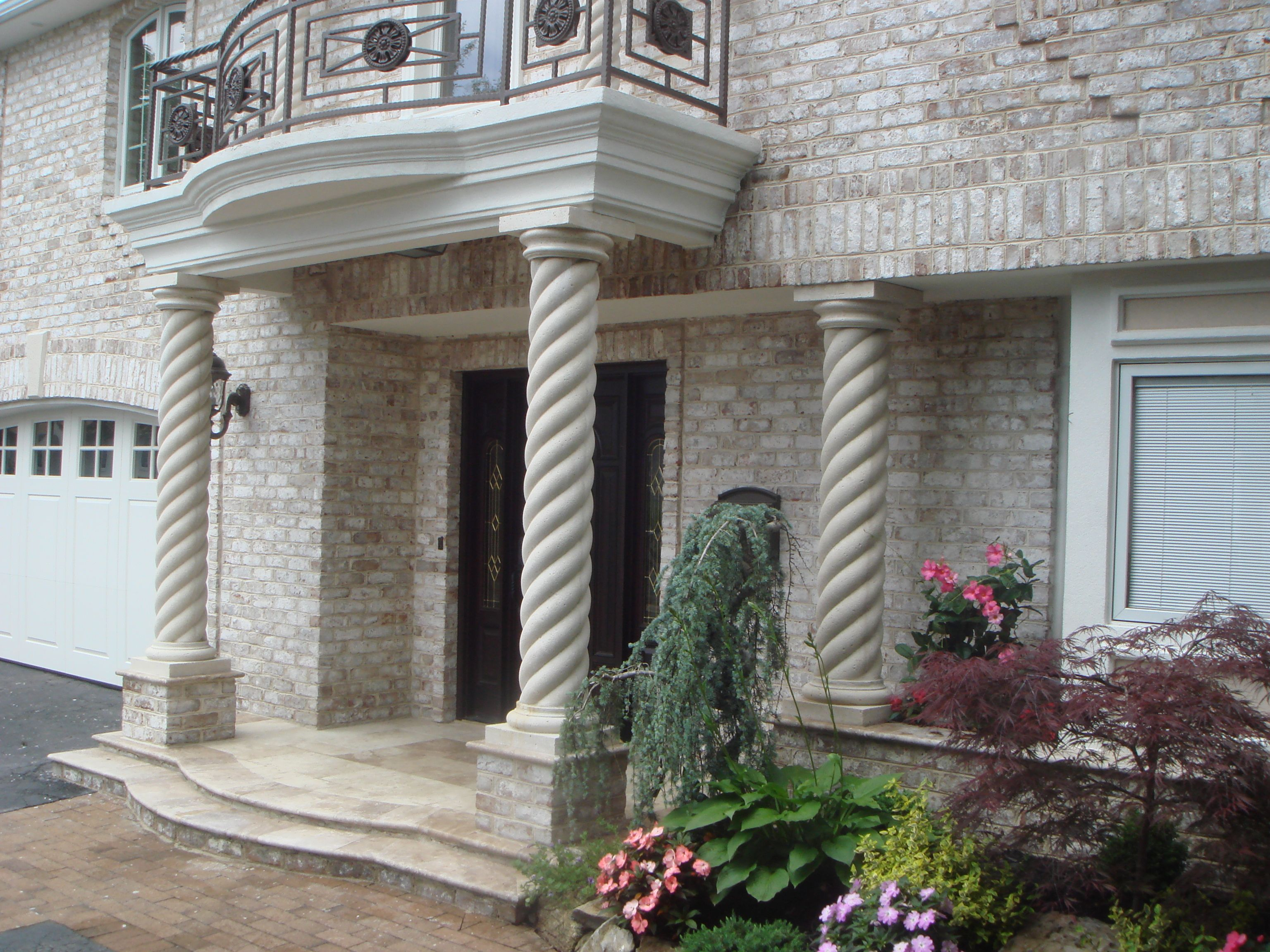 Our columns can be custom designed in different styles for Different exterior home design styles
