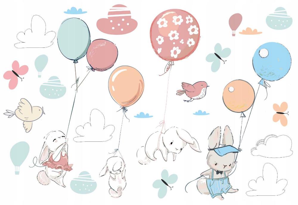 Naklejki Dla Dzieci Na Sciane Kroliki Balony Gory