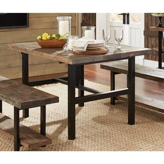 Pomona Metal and Reclaimed Wood 48-inch Dining/ Kitchen Table - Free ...