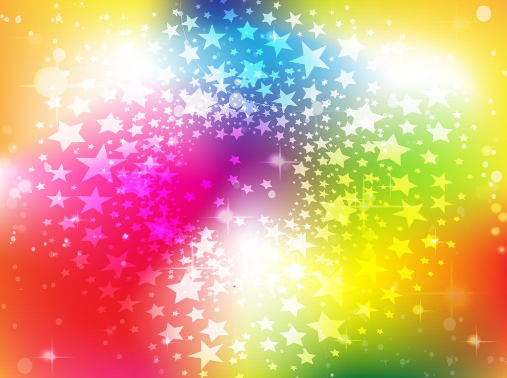 Free Background Graphics Bright Rainbow Stars Background