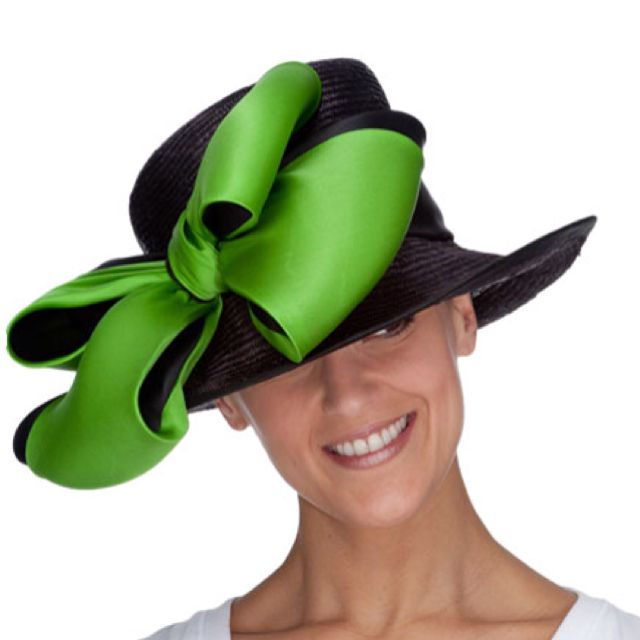 A fabulous emerald green and black hat.  millinery  judithm  hats ... 97a31d4d351