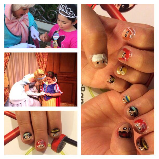 Disney Princess Nails- Snow White, Belle, Ariel, Jasmine, Cinderella, Elsa, Anna, Merida, Rapunzel, Mulan