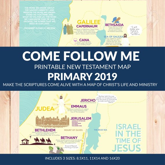 """Printable """"Come Follow Me"""" New Testament LDS Primary Theme"""
