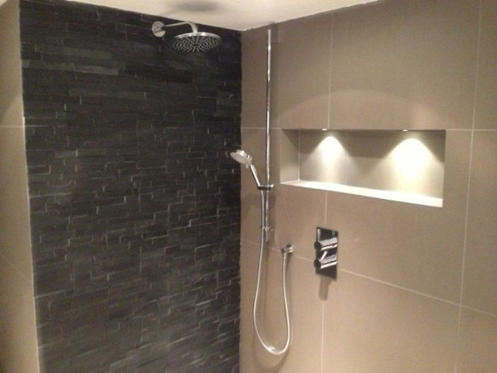 Shower Recess Recessed Shelves Shelving Family Bathroom Small Master