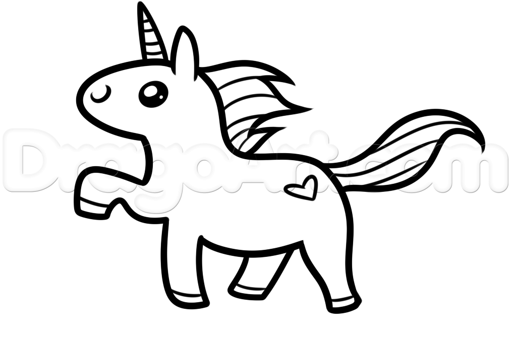 How to draw a kawaii unicorn step 5