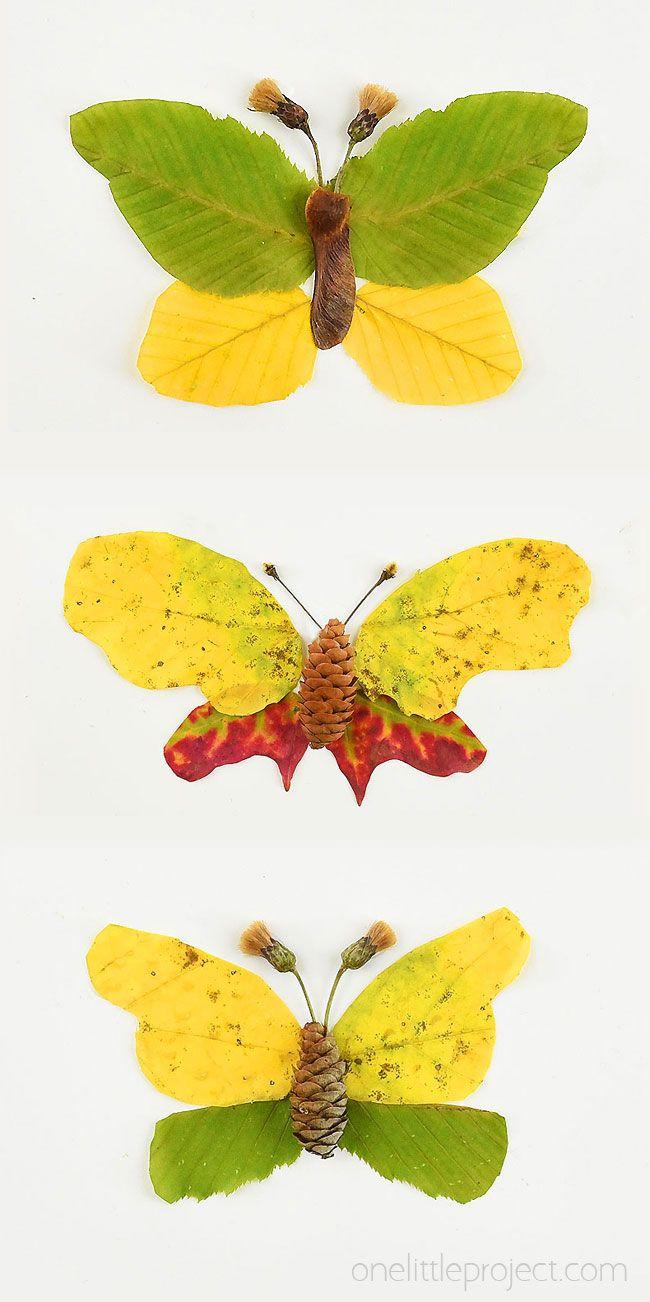 Autumn Leaf Butterflies and Dragonflies | Autumn Nature Craft