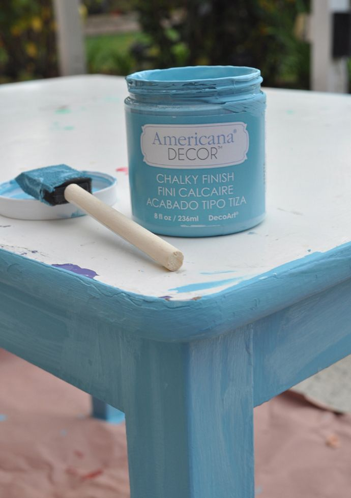americana decor chalk paint Americana Decor Chalky Finish Azul