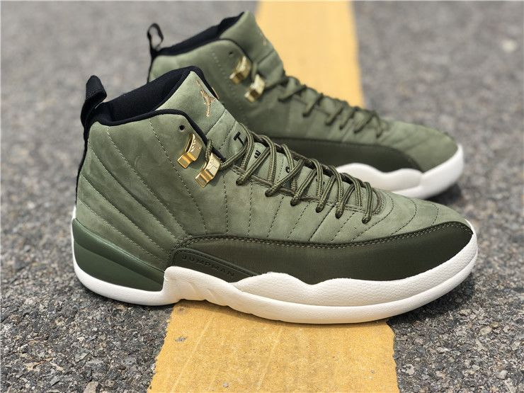 Air Jordan 12 Chris Paul Class of 2003 Olive Canvas Sail-Black-Metallic  Gold-1 326b129d7