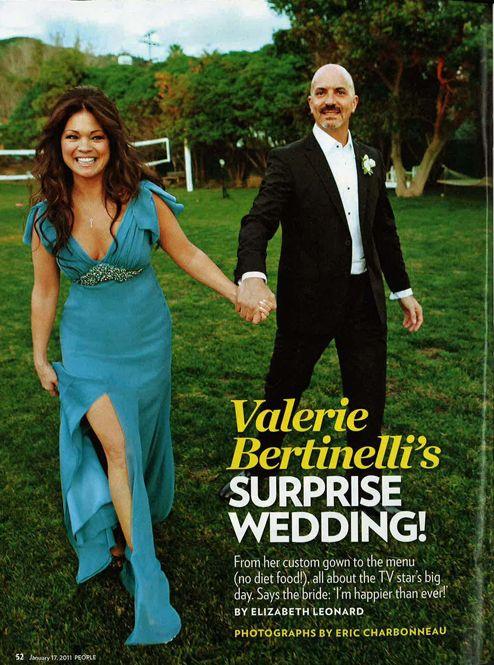 Valerie Bertinelli In David Meister Bridal People Magazine