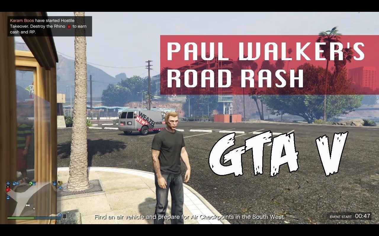 GTA V   Paul walker's Road Rash   GTA V Game Play   GTA 5