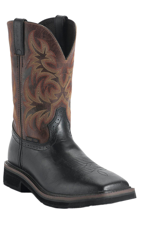 Justin Original Work Boots Stampede Men S Black Oiled