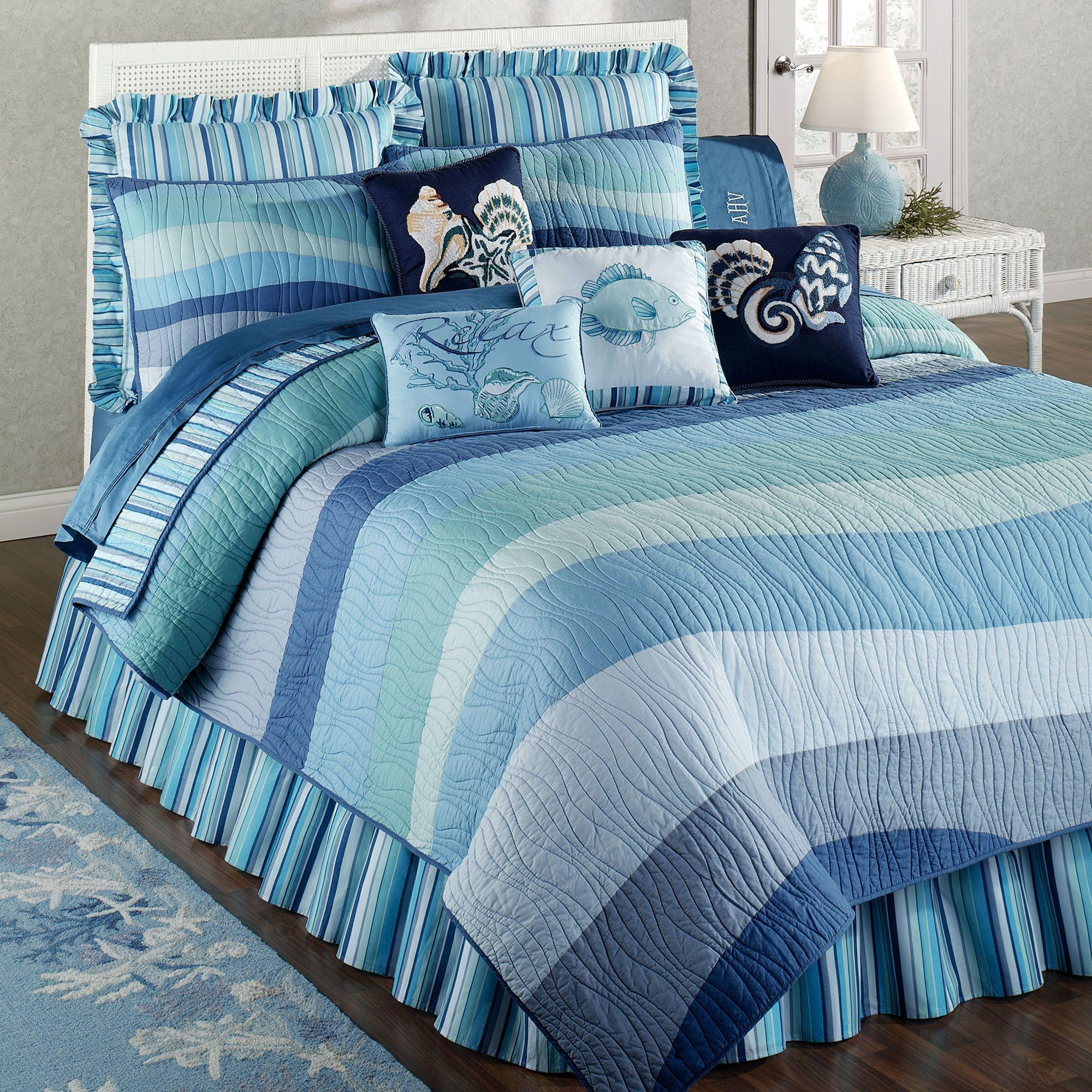 coastal life bedding blue cottage seashell beach bedspreads blue aqua water beach bedspreads ocean wave