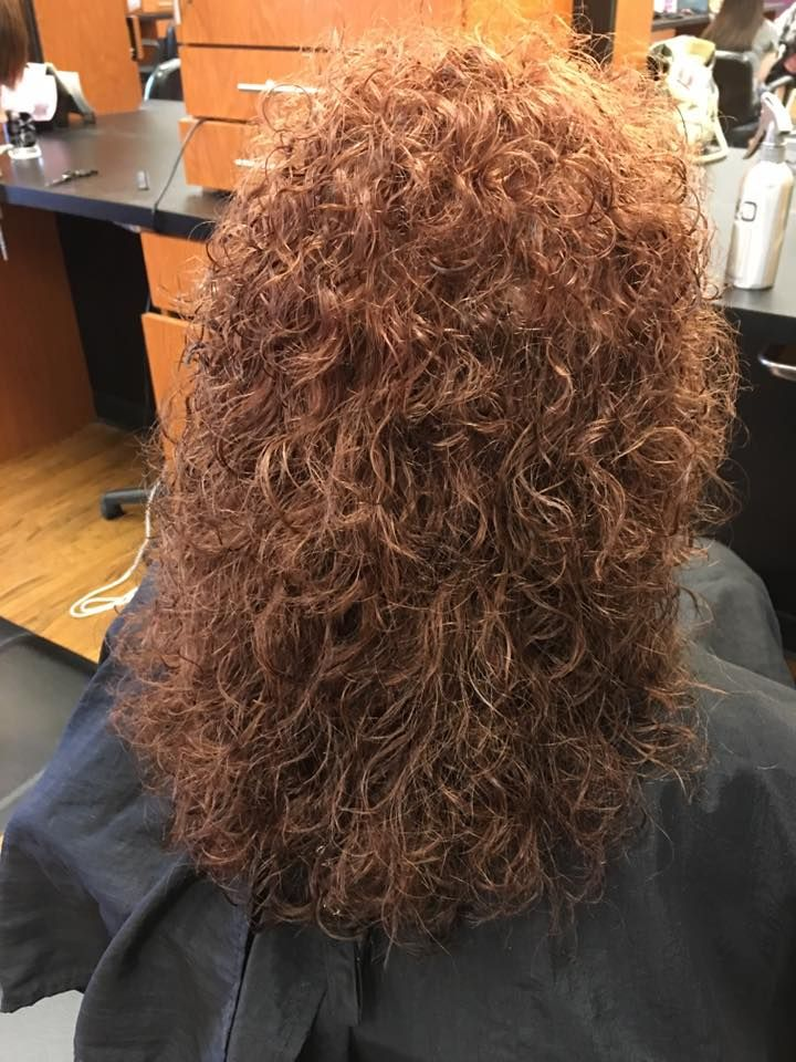 Spiral Perm With Large Rods Results After Drying Curly Hair Styles Perm Permed Hairstyles