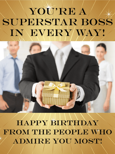 You Are A Superstar Happy Birthday Wishes Card For Boss Every