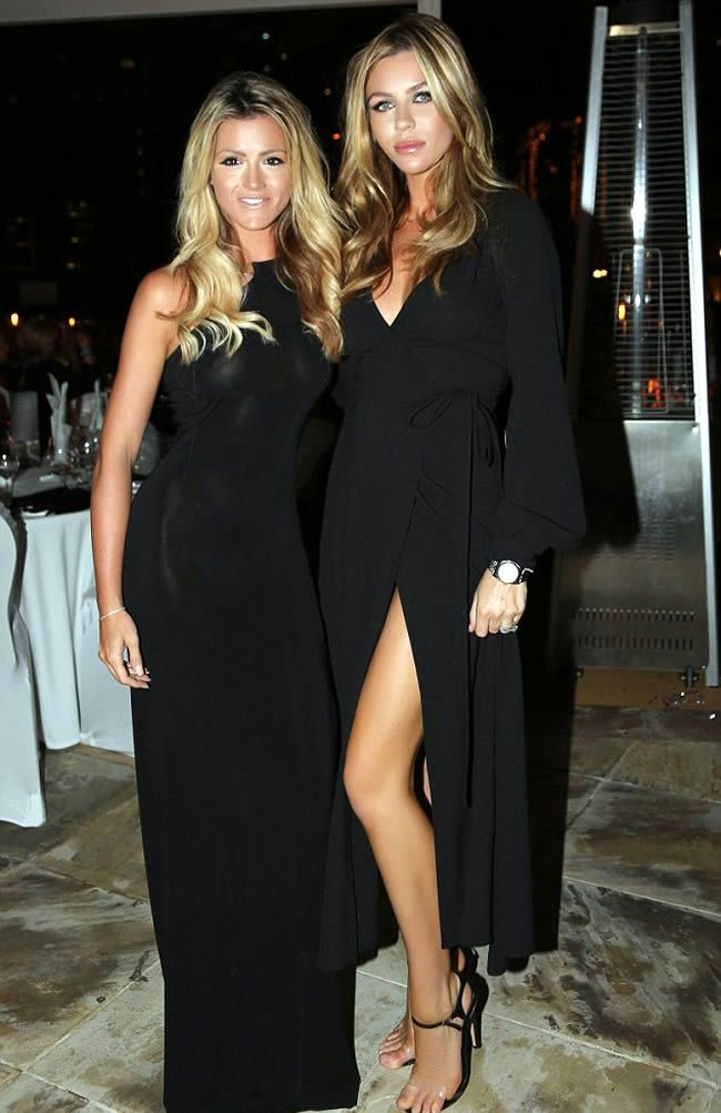Pregnant Abbey Clancy Shows No Hint Of A Baby Bump In Plunging Black