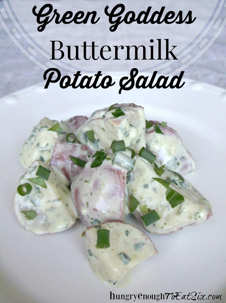 Green Goddess Buttermilk Potato Salad Potato Salad Roasted Potato Salads Potatoes