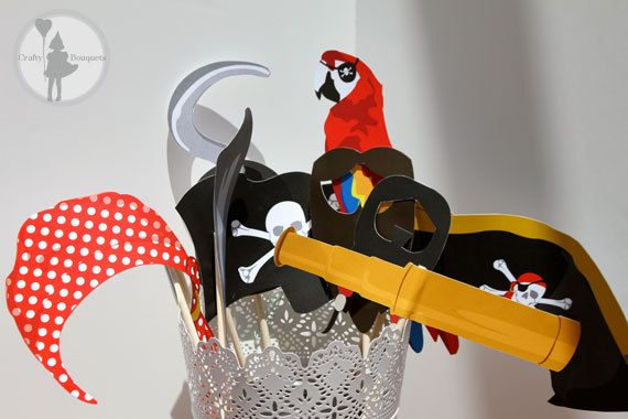 Pirate Party Photo Booth Package Printable by craftybouquets, $12.00