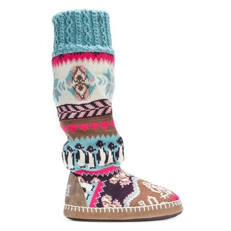 Women's MUK LUKS® Angie Penguin Fair Isle Slipper Boots : Target ...