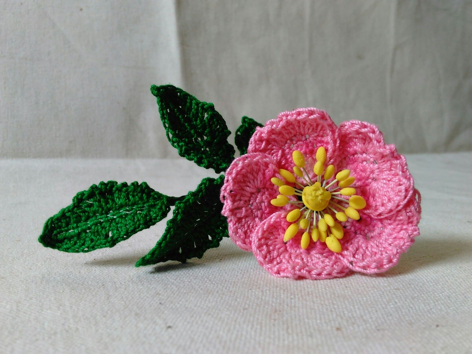 Rosa Canina Wild Rose pattern by Leticia Lebron   Crochet flowers ...