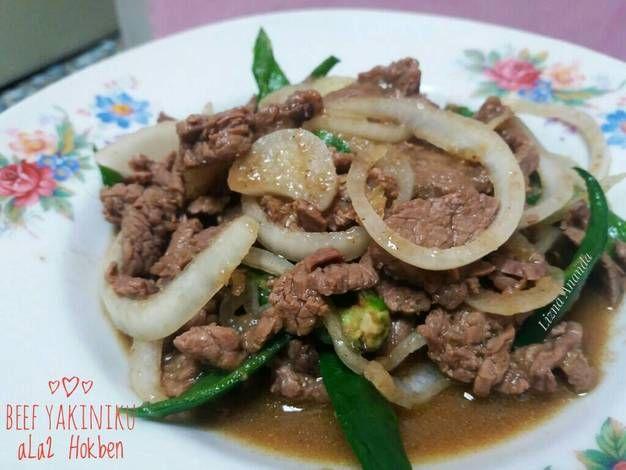 Resep Beef Yakiniku Ala2 Hokben Oleh Lizna Ananda Recipe Beef Beef Recipes Recipes